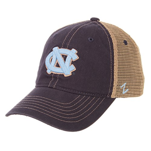 ZHATS NCAA North Carolina Tar Heels Men's Institution Relaxed Cap, Adjustable, Navy -