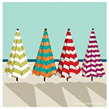 Thirstystone Occasions Coaster, Beach Umbrellas, Multicolor