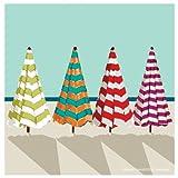 Thirstystone Occasions Coaster, Beach Umbrellas, Multicolor
