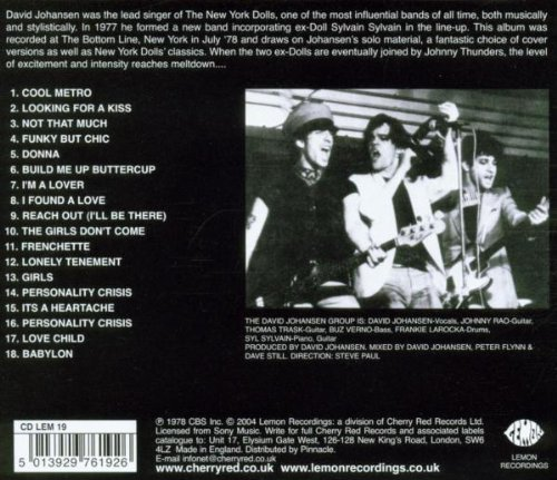 The David Johansen Group Live
