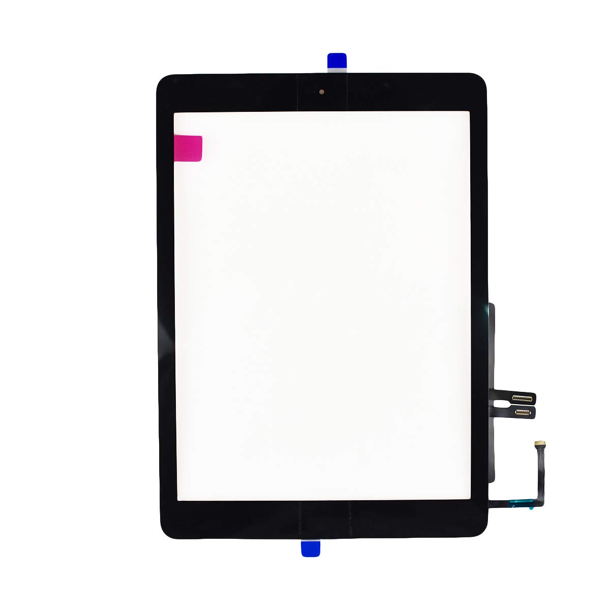 Aiiworld Touch Screen Digitizer Replacement with Home Button Adhesive for iPad 9.7 2018 iPad 6 6th A1893 A1954 (Black) by Aiiworld