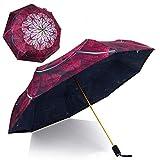 Kobold Double Layer Compact Flower Umbrella with Ergonomic Handle, Umbrellas for Women with UV Protection, Anti-UV Windproof Travel Umbrella