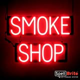 SpellBrite Ultra-Bright SMOKE SHOP Sign Neon-LED Sign (Neon look, LED performance)
