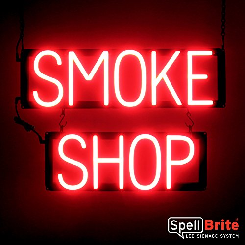 SpellBrite Ultra-Bright SMOKE SHOP Sign Neon-LED Sign (Neon look, LED performance) by SpellBrite LED Signage System