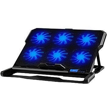 Soporte enfriador de 6 ventiladores para PC portátil, notebook, Consoles... Compatible