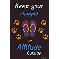Bikri Kendra Keep Your Chappal and Attitude Paper Poster, 30X45cms, Multicolour