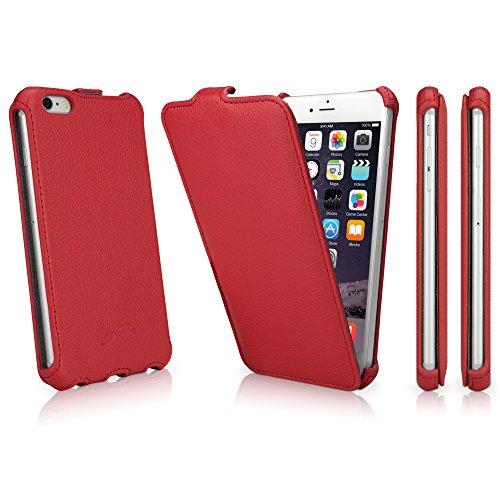 BoxWave iPhone 6 Plus BoxWave device_name   Étui à rabat Vertical fin en similicuir pour   device_name Étuis et housses Ardent (Rouge)