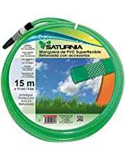 "SATURNIA 8070920 Manguera Latex Reforzado 15 mm. -  5/8"" Rollo 15 Metros Con Accesorios"
