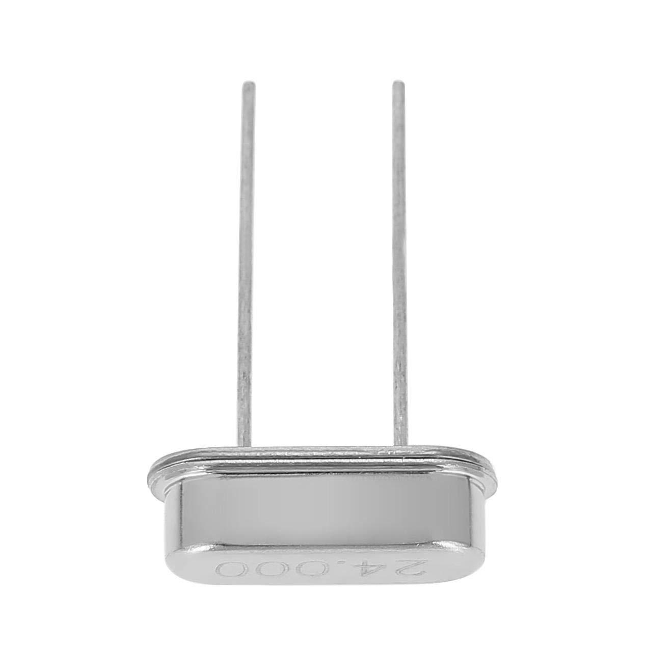 24MHz Set Akozon DIY Quartz Crystal Oscillator Assorted Kit 50pcs 10Value 32.768KHz