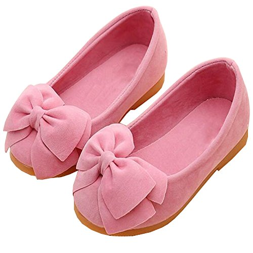 Image of Lovirs Girls Casual Slip On Bowtie Mary Jane Flats Ballerina Flat Toddler Shoes