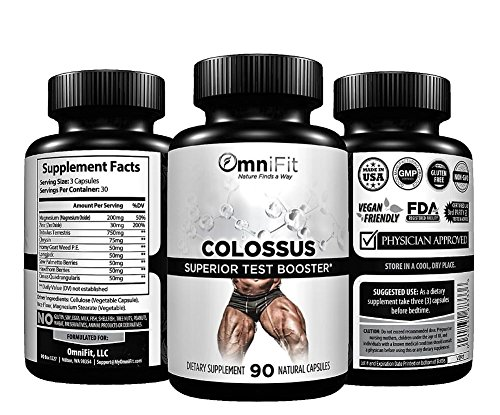 100% All-Natural Test Booster - Performance, Energy, Libido, and Strength - Scientifically Formulated w/Tribulus, Longjack, Hawthorn, and 7 Other Powerful Ingredients - 90 Veggie Capsules