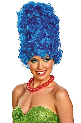Disguise The Simpsons Marge Deluxe Glam Adult Costume Wig, Blue, One Size Adult