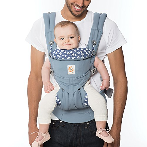 Ergobaby Omni 360 All-in-One Ergonomic Baby Carrier (Blue Daisies)