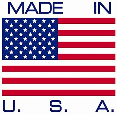 Die-Cut Two Large 4 x 6 Rectangular United States American Flag Decal Stickers; Premium Quality Heavy-Duty 3M USA Vinyl Screen Printed 2 Adhesive on Back
