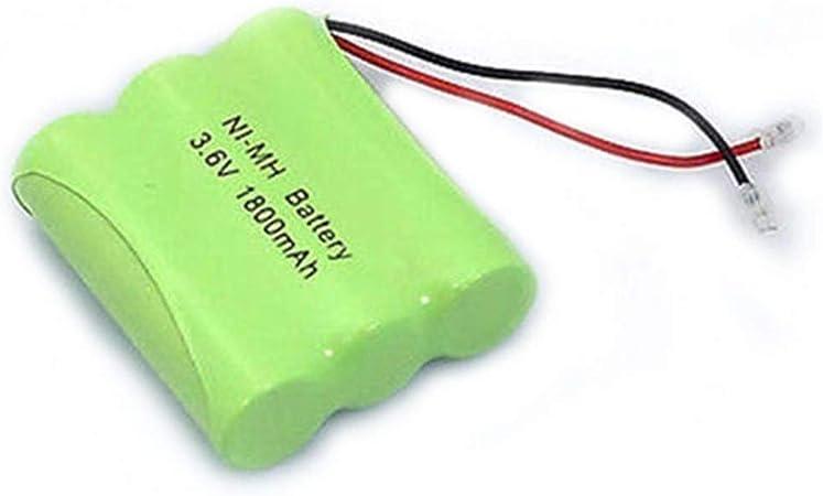 HWW-DIANCHI, 1pc Universal Plug 3.6V 1800mAh 3X AA Escritorio de la Tabla Teléfono Inalámbrico Paquete de Pilas Recargables NIMH: Amazon.es: Hogar