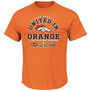 Denver Broncos 2015 Super Bowl 50 Champs United in Orang3 T-shirt Small