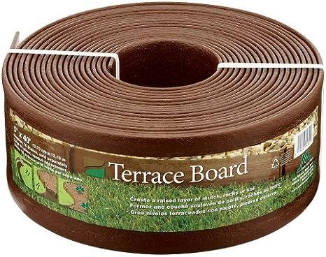 Master Mark Plastics 95340 Terrace Board Landscape Edging Coil 5 Inch X 40 Foot Brown 2 Pack Plastics Garden Outdoor