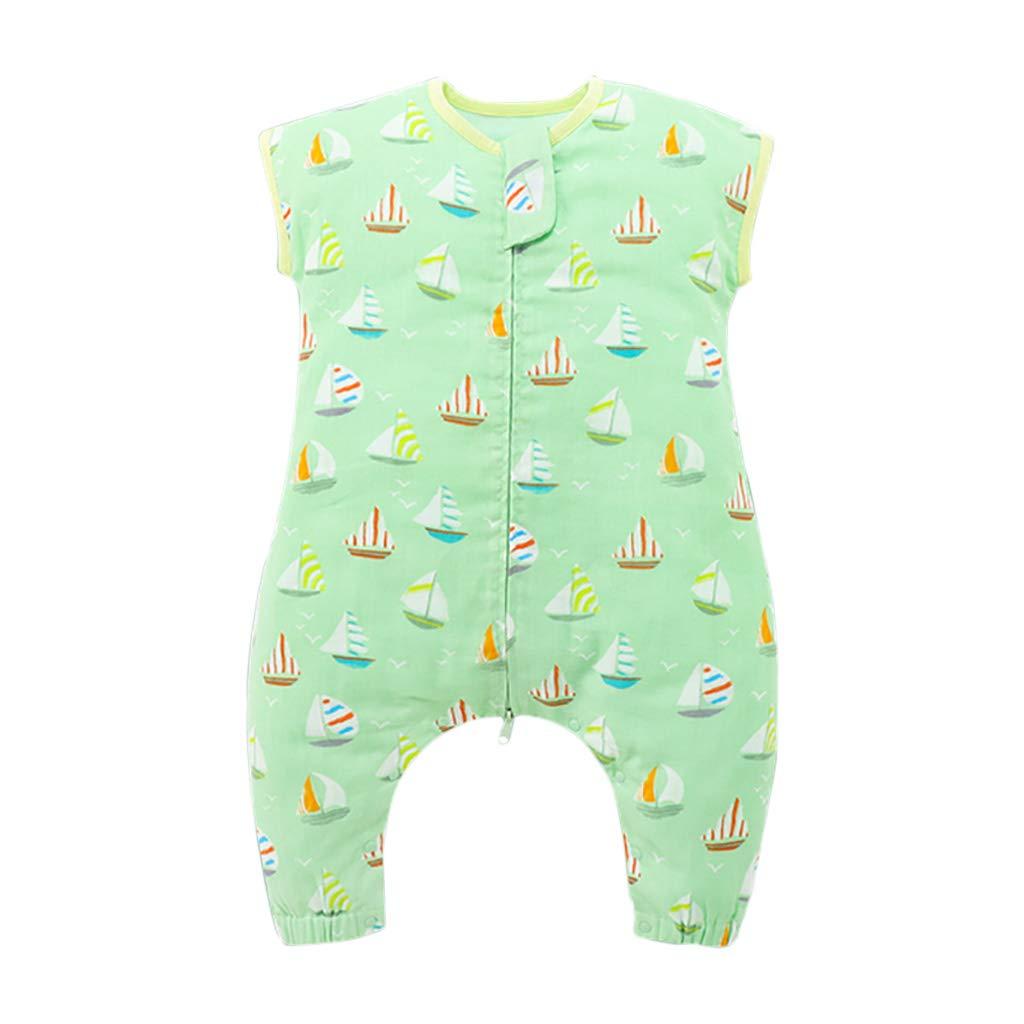 HUYP 赤ちゃん寝袋袖の女の子アンチキック薄い寝袋分割脚ラップ毛布取り外し可能なスリーブ男の子 (色 : Green - 2 layers, サイズ さいず : 130 yards) 130 yards Green - 2 layers B07P5CF85V