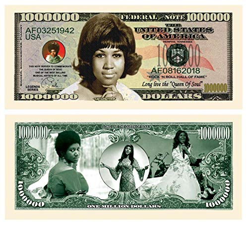 American Art Classics Limited Edition Aretha Franklin Collectible Bill in Currency Holder - Novelty Dollar Bill - Best Gift Or Keepsake for Lovers of The Queen of Soul