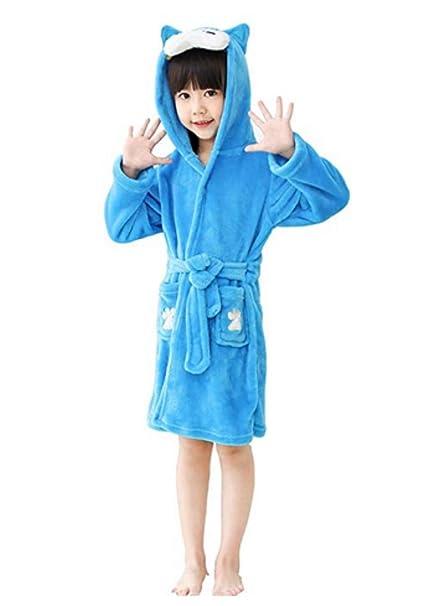 Woneart Niños Albornoz Unicornio Ropa De Dormir con Capucha Animal Bata De Baño Encapuchado Pijama Cosplay Disfraces Animales Vestirse Loungewear: ...