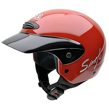 NZI 050139G058 Single II Jr Red Casco de Moto, Rojo, Talla 50-51
