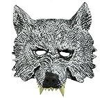 Himine Halloween Gray Wolf's Head Mask