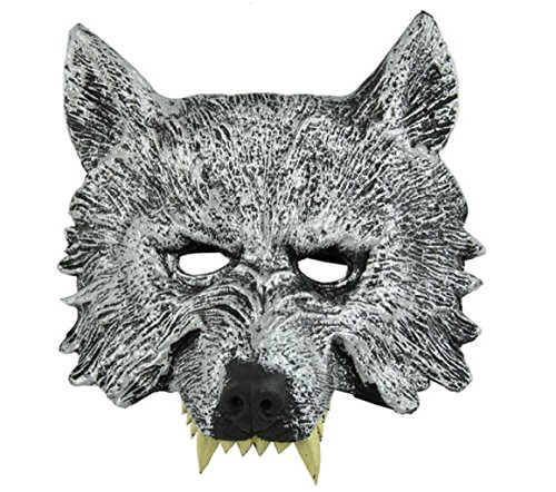 Himine Halloween Gray Wolf's Head Mask -