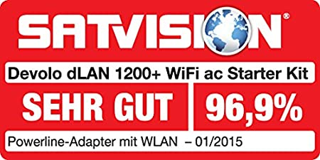 1200 Mbit//s Netzwerk /über die Steckdose, 1x LAN Port, 1x Powerline Adapter, integrierte Steckdose, PLC Netzwerkadapter devolo dLAN 1200 Powerline wei/ß