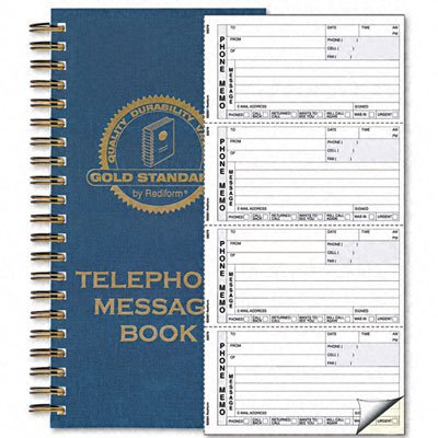 ~:~ REDIFORM OFFICE PRODUCTS ~:~ Message/Phone Memo, 2-3/4 x 5, Carbonless Duplicate, 600 Sets/Book