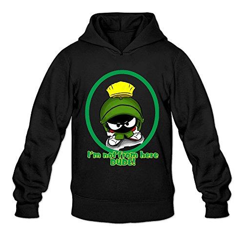 (AK79 Men's Hooded Sweatshirt Marvin The Martian Size XL)