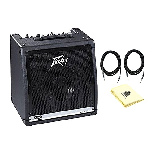 Peavey 00573140 KB 2 50W Keyboard Amplifier With a Pair of Instrument Cables and Polishing Cloth