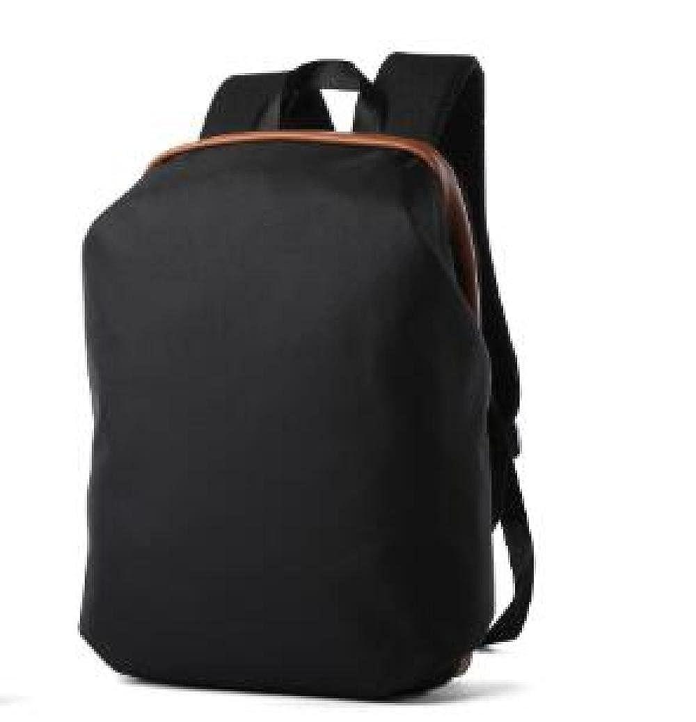 Black M Contracted Men's Shoulder Bag Leisure Travel Backpack Business Computer Bag 15 Inch Backpack