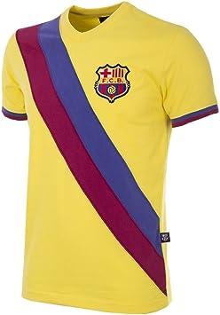 Copa FC Barcelona Away 1978 – 79 Retro fútbol Camiseta Retro fútbol Camiseta Cuello Redondo: Amazon.es: Deportes y aire libre