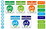 PUR Gum The PUR Company  | Sugar-Free + Aspartame-Free Mints  | 100% Xylitol  | Variety Pack | Vegan + Non GMO  | 20 Mints per Bag (Pack of 5, 100 Mints), Variety, 100 Count