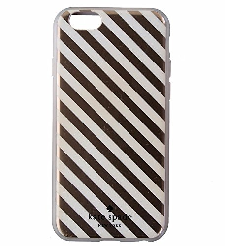 Kate Spade Flexible Hardshell Case for Iphone 6/6s - Rose Gold Diagonal Stripe