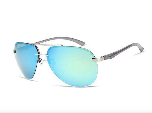 Gafas De Sol Hombre Polarizadas, gafas de sol estilo aviador cristal verde, gafas de