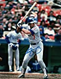 Steve Yeager Signed Autographed 8X10 Photo LA Dodgers Road At Bat w/COA