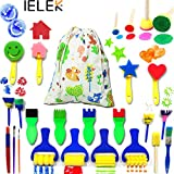 WE CARE ABOUT YOUR INVESTMENT!25PCS Early Learning Different Pattern Painting Brushes - A Perfect gifts for kids to develop their imagination fully;Easy to Handle and Clean;Durable for repeated uses.This is an innovative entertainment style,keep kids...