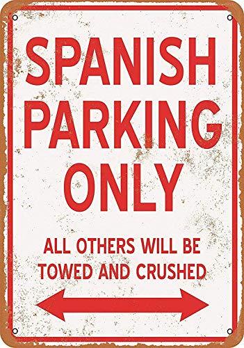 スペインの駐車場のみ 金属板ブリキ看板注意サイン情報サイン金属安全サイン警告サイン表示パネル