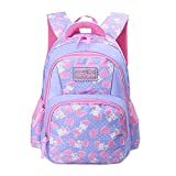 Fox World Cute Fox Printed Backpack for Girls, Lightweight Waterproof Schoolbags for Elementary