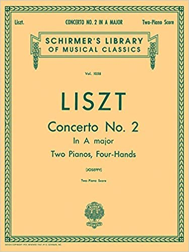 Concerto No 2 in A Schirmer Library of Classics Volume 1058 Piano Duet