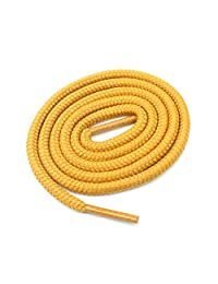 "Round Shoelaces 3/16"" Thick Solid Colors for All Shoe Types Several Lengths (Wheat-45)"