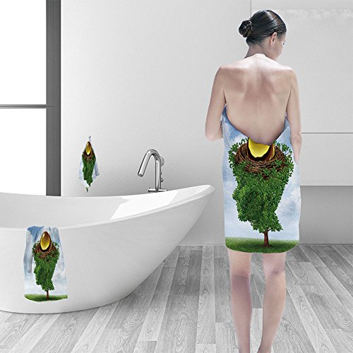 Price comparison product image Nalahomeqq Bath towel set Managing your nest egg as financial concept growing green tree in the shape of human head supporting nested investment for future retirement fund as plan