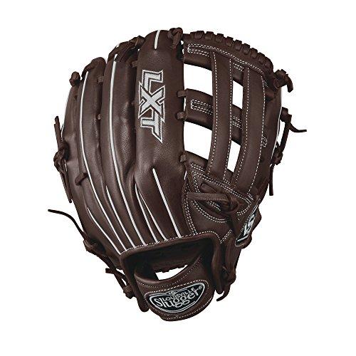 Louisville Slugger LXT Outfield Softball Gloves, Left Hand, 12.5', Dark Brown/White