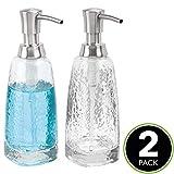 mDesign Modern Glass Refillable Liquid Soap