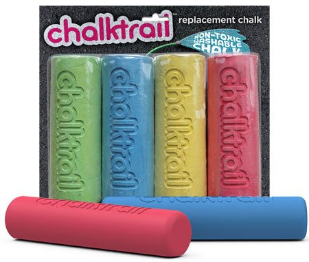 Chalktrail Replacement Chalk, Pack of 4