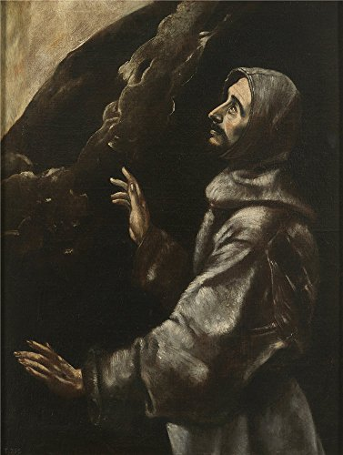 Oil Painting 'El Greco (Copy) San Francisco En Extasis 17 Century', 20 x 27 inch / 51 x 67 cm , on High Definition HD canvas prints is for Gifts And Home Theater, Kids Room And Study Room Decoration
