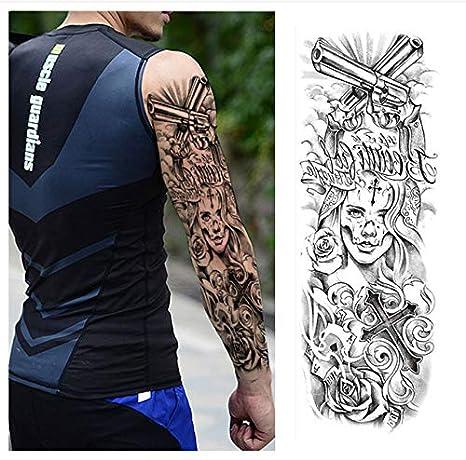 yyyDL Gran brazo manga tatuaje impermeable tatuaje temporal ...