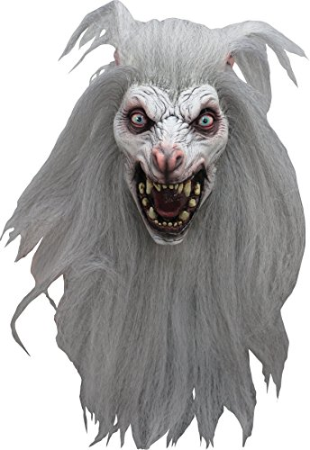 Scary Wolf Werewolf Moon Wolf Halloween Costume Mask (White)