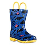 Chillipop Toddler Boys Navy Campfire PVC Rain Boot, Available in All Kid Sizes 5-10
